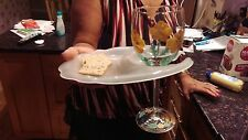 HAND FREE Dinner Party APPETIZER PLATE WINE GLASS or BAR GLASS HOLDER
