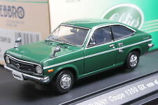 Ebbro 43176 1:43 Nissan Datsun Sunny Coupe 1200 GX 1970 Die Cast Model Car Green