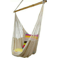 2016 NEW HANGING COTTON Deluxe ROPE HAMMOCK CHAIR PATIO PORCH tree Sky SWING