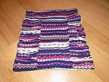 Size Small Charlotte Russe Multi Colored Geometric Print Mini Skirt Navy Pink