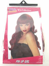 CALIFORNIA COSTUMES WOMEN'S PIN UP GIRL RED WIG, ONE SIZE, NEW