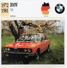 1972-1981 BMW 520 Classic Car Photograph / Information Maxi Card