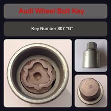"Genuine Audi Locking Wheel Bolt / Nut Key 807 ""G"" 17 Hex"