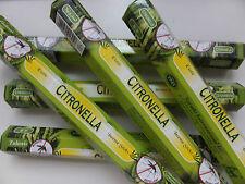 6 x 20 Stück Tulasi Citronella Mückenschutz - Räucherstäbchen - incense sticks