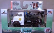 M2 MACHINES 1:64 SCALE DIECAST BLACK AND WHITE 1957 DODGE COE POLICE TOW TRUCK