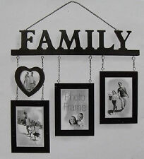 Family Multi Opening Photo Frame, Cut Out, Hanging, Multi-Picture - FREE P&P