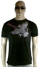 Amplified the Stranglers pedrería Eagle Adler vintage estrella de rock agujeros t-shirt G.M