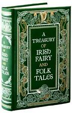 A TREASURY OF IRISH FAIRY & FOLK TALES ! LEATHER GIFT EDITION ~ BRAND NEW