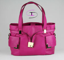 Michael Kors Fuschia Pink Leather Beverly Large Drawstring Satchel Should MK-021