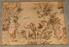 Vintage French Cow Farm Scene Wall hanging 127X176cm A95