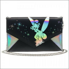 Disney Tinker Bell Iridescent Peter Pan Envelope Chain Clutch Wallet Purse NEW