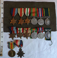 Original Military WWI /II Family Group Of Medals 3 Members Marsh Family  (1033)