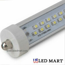4PK Single Pin 8FT 38W 6500K T12 T8 Fluorescent Replacement LED Tube Light Clear