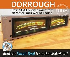 Dorrough Pair of 40-A Analog Loudness LED Monitors in Rack Mount - Tested Great!