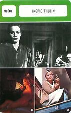 Ingrid Thulin  SUEDE  ACTRESS ACTRICE FICHE CINEMA