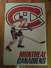 1970s WHEATIES Premium MONTREAL CANADIENS NHL Player Poster