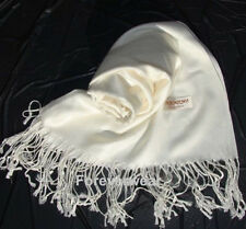 Womens SOLID PASHMINA Silk Cashmere Wool Shawl Scarf Stole Long Fringe Wrap NEW