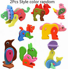 2Pc Kid Child Mini EVA Foam Alphabet 3D Animal Puzzle Baby Educational Toys