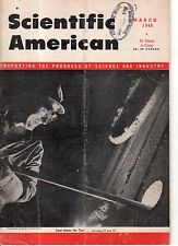 1946 Scientific American March - Plastics for the consumer; Fuel ratings; WASP