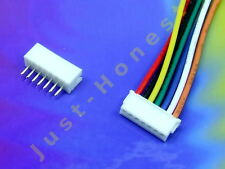 KIT BUCHSE +STECKER 7 polig/pins 1.5mm  HEADER + Male Connector PCB #A610