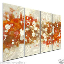 Metal Wall Art Set Contemporary Artwork Modern Abstract Wall Sculpture