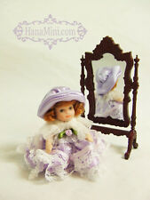 "Miniature 1:12 or 1:24 Porcelain Dolls 2 1/2"" Tall - P1"