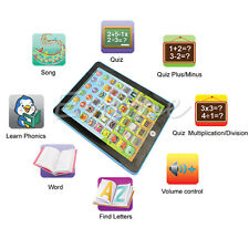 BLUE TABLET My 1st Year Kids IPAD TAB Learning New Toy Xmas Gift for Boys Girls