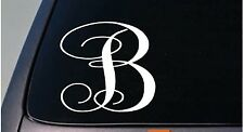 "LETTER B 6"" monogram sticker decal truck car window teach craft initials *D773*"