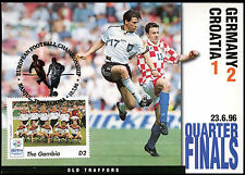 Football Maxicard 1996 Germany V Croatia Handstamped #C26320