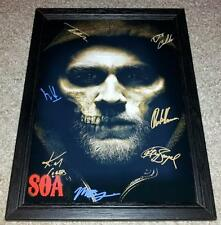 "SONS OF ANARCHY CAST X7 PP SIGNED & FRAMED 12""X8"" POSTER CHARLIE HUNNAM SOA S7"