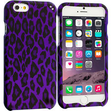 For Apple iPhone 6S (4.7) Hard Design Protective Case Cover Purple Leopard