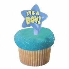 IT'S A BOY Star Shaped Cupcake Toppers (Set of 12)