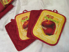 Red & Red Delcious Apple Pot Holders