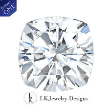 0.60 CT MOISSANITE FOREVER ONE CUSHION LOOSE STONE - 5.0 mm