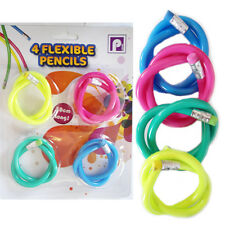 Kids Flexible Magic Pencils +Eraser Colourful Soft Children School Fun Bag Loot