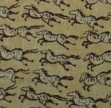 "P KAUFMANN STAMPEDE BROWN D4083 HORSE JACQUARD UPHOLSTERY FABRIC BY YARD 55""W"