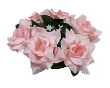 Candle Ring Rings ~ PINK ROSES ~ Silk Wedding Flowers Centerpieces Unity Decor