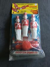 NEW Rare Vintage Toy 5 piece Soldier Set with Shooting Cannon Shoot'em Down USA