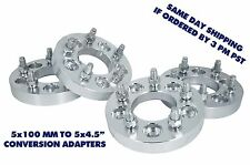"""4 Pc 5x100 To 5x4.5 Or ( 5x114.3 MM ) 1"""" ( 25 MM ) Thick Wheel Spacers Adapters"""