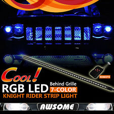 7-Color RGB 5050 48LED Knight Rider Strip Light For Car Under Hood Behind Grille