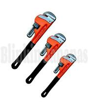 3PC HEAVY DUTY ADJUSTABLE PLUMBING STILSONS MONKEY WRENCH SHIFTING PIPE SPANNER