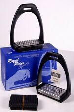"Royal Rider Jump 25s Slimline Lightweight Stirrups 4.5"" BLACK + Worldwide P&P"