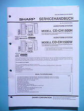 Service Manual-Anleitung Sharp CD-CH1500H/CD-CH1500W ,ORIGINAL