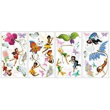 DISNEY FAIRIES wall stickers 30 decals Tinker Bell Fawn Iridessa scrapbook decor