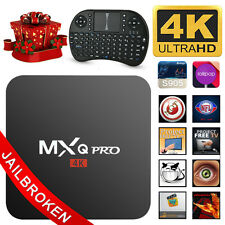 MXQ Pro 4K Amlogic S905 Android 6.0 Quad-Core WiFi Smart TV Box 8GB + Tastatur