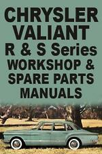 CHRYSLER VALIANT R & S SERIES WORKSHOP & SPARE PARTS MANUALS