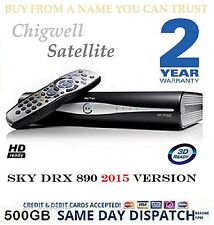 SKY BOX DRX890 EX DEMO 500GB SKY PLUS HD BOX BRAND NEW REMOTE LEADS 2YR WARRANTY