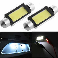 2Pcs DC 12V 42mm Car COB LED License Plate Light LED Bulbs Interior lights White