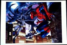 BATMAN Vs SPIDER-MAN ART PRINT by MICHAEL TURNER & PETER STEIGERWALD  / HTF