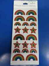 Rainbows Pride Happy Day Award Kids Birthday Party Favor Scrapbook Stickers